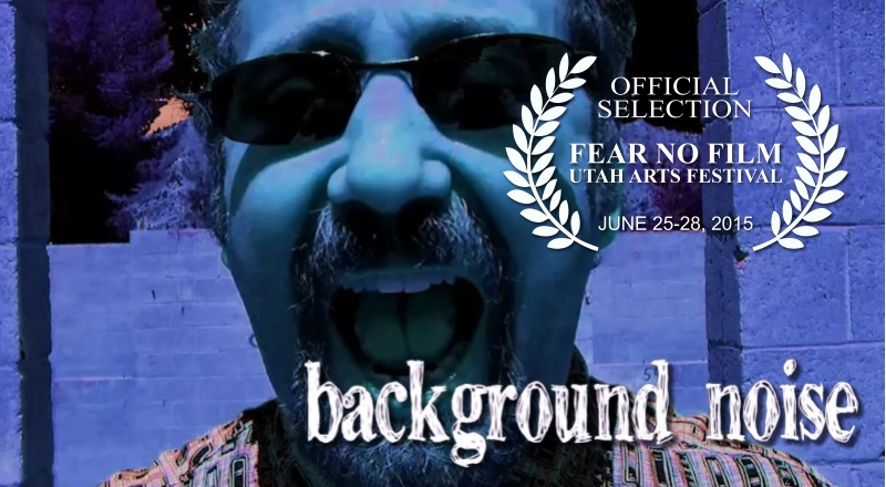 Man Yelling with words Background Noise and film festival laurel