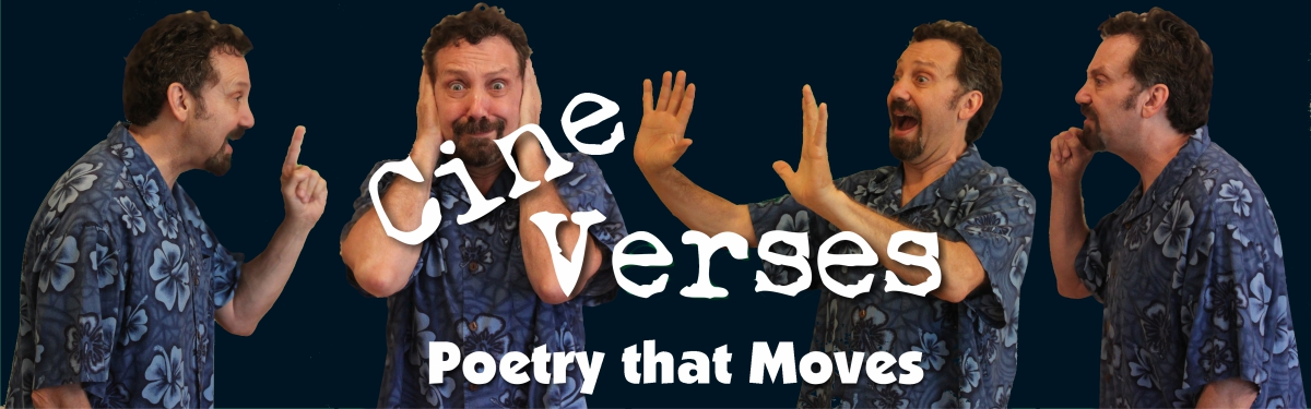 Four versions of Jerry Danielsen under CineVerses logo.