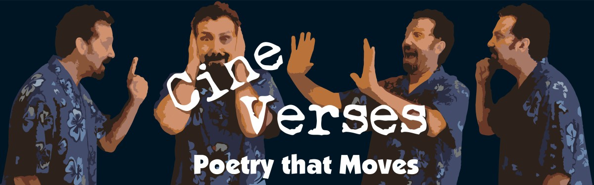 Four versions of Jerry Danielsen under CineVerses logo.